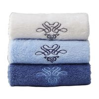 Gentle Meow Set of 3 Bath Towel Set Spa/Hotel/Sports Towels Washcloth Beige,Blue,Dark Blue
