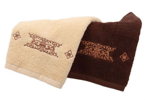 Gentle Meow Set of 2 Luxurious Embroidery Cotton Bath Towels Spa/Hotel/Sports Towel Set Gift