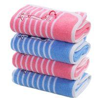 Gentle Meow Set of 4 Giraffe Cotton Bath Towels Washcloth Family Towels Set Kindergarten