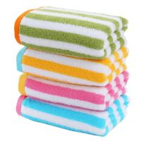 Gentle Meow Set of 4 Colorful Striped Face Bath Towels Washcloth Family Towels Set 72*33cm