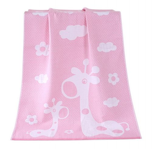 Gentle Meow Happy Giraffe Bath Towels Cotton Family Towels Washcloth Children Towel Pink