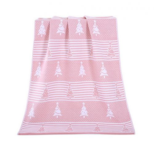 Gentle Meow Christmas Tree Towels Cotton Family Towels Washcloth Bath Towel Pink Gift Idea