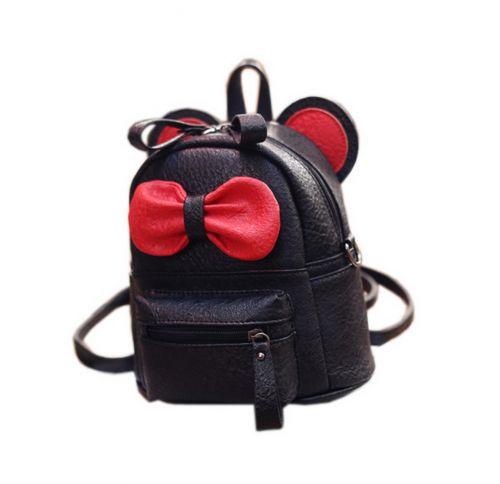 Cute Toddler Backpack Kindergarten Bag Travel Kids Backpacks Purse Bowknot Black