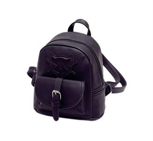 Lovely Cats Black Toddler Backpack Kindergarten Bag Travel Kids Backpacks Purse