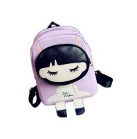 Kids School Bag Toddler Backpack Cute Girl Camping Travel Backpacks Purse Purple