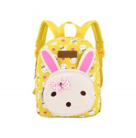 Rabbit Kids School Bag Toddler Backpack Canvas Travel Backpacks Purse Yellow