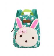 Cute Rabbit Kids School Bag Toddler Backpack Canvas Travel Backpacks Purse Green