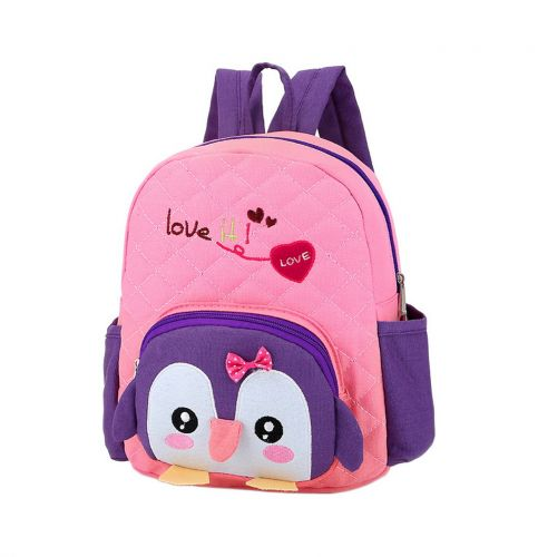 79812022c3b0 Cute Pink Penguin School Bag Toddler Backpack Kids Travel Canvas Backpacks  Purse - Gentle Meow