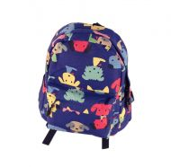 Cute DarkBlue Puppy School Bag Children's Backpack Travel Canvas Backpacks Purse