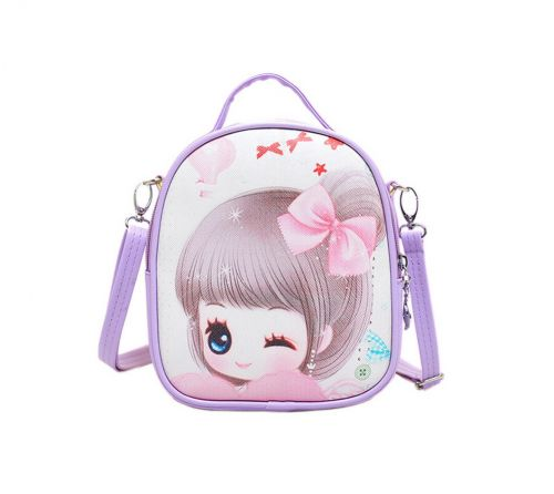 Children School Bag Cute Travel Shoulder Bag Kid Backpack Purses Purple Princess