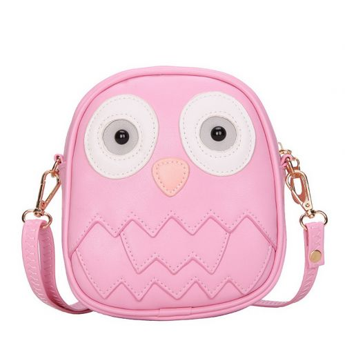 Cute Owl Children Travel Shoulder Bag Kids Backpack Purses School Pink
