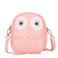 Cute Owl Children Travel Shoulder Bag Kids Backpack Purses School Bag Fleshcolor