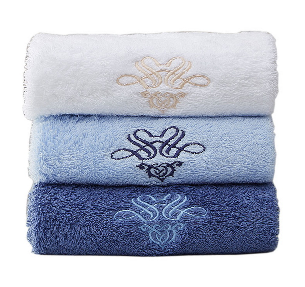 Set of 3 Bath Towel Set Spa/Hotel/Sports Towels Washcloth White,Blue ...