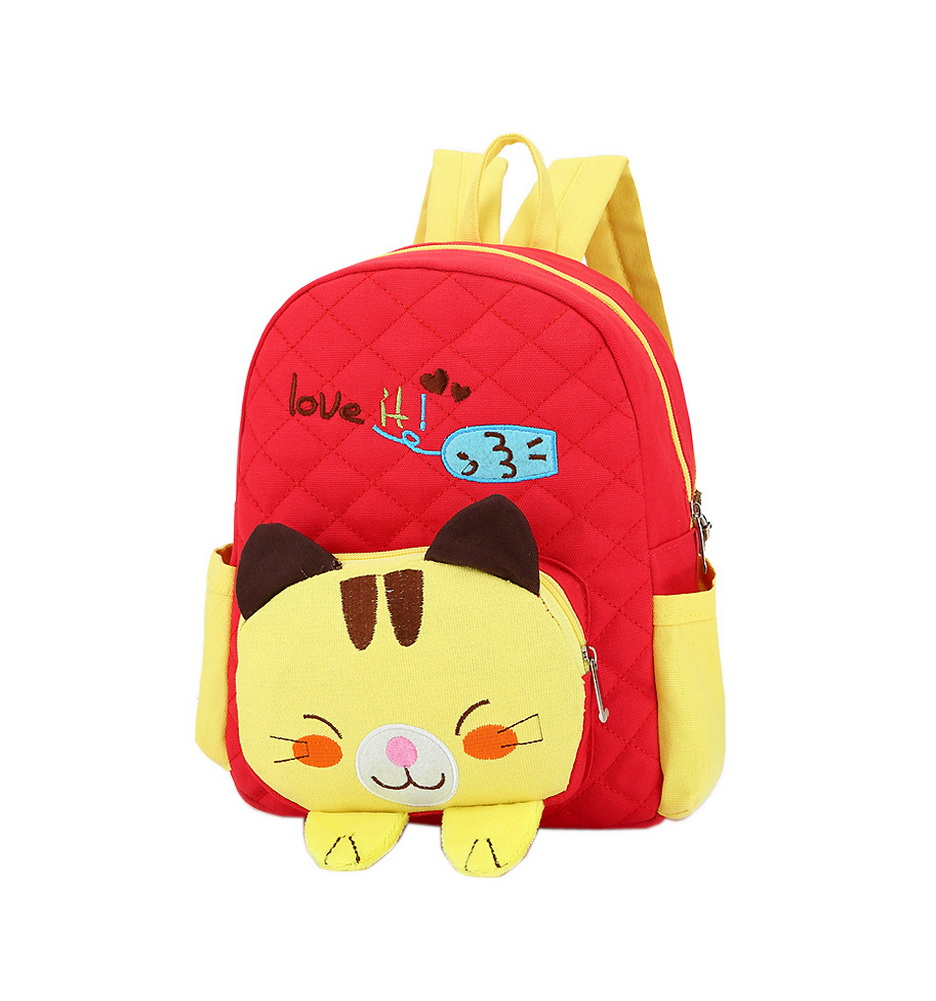 24c863f4a6 Cute Red Cat School Bag Toddler Backpack Kids Travel Canvas Backpacks  Purse. ×. Click to enlarge ...